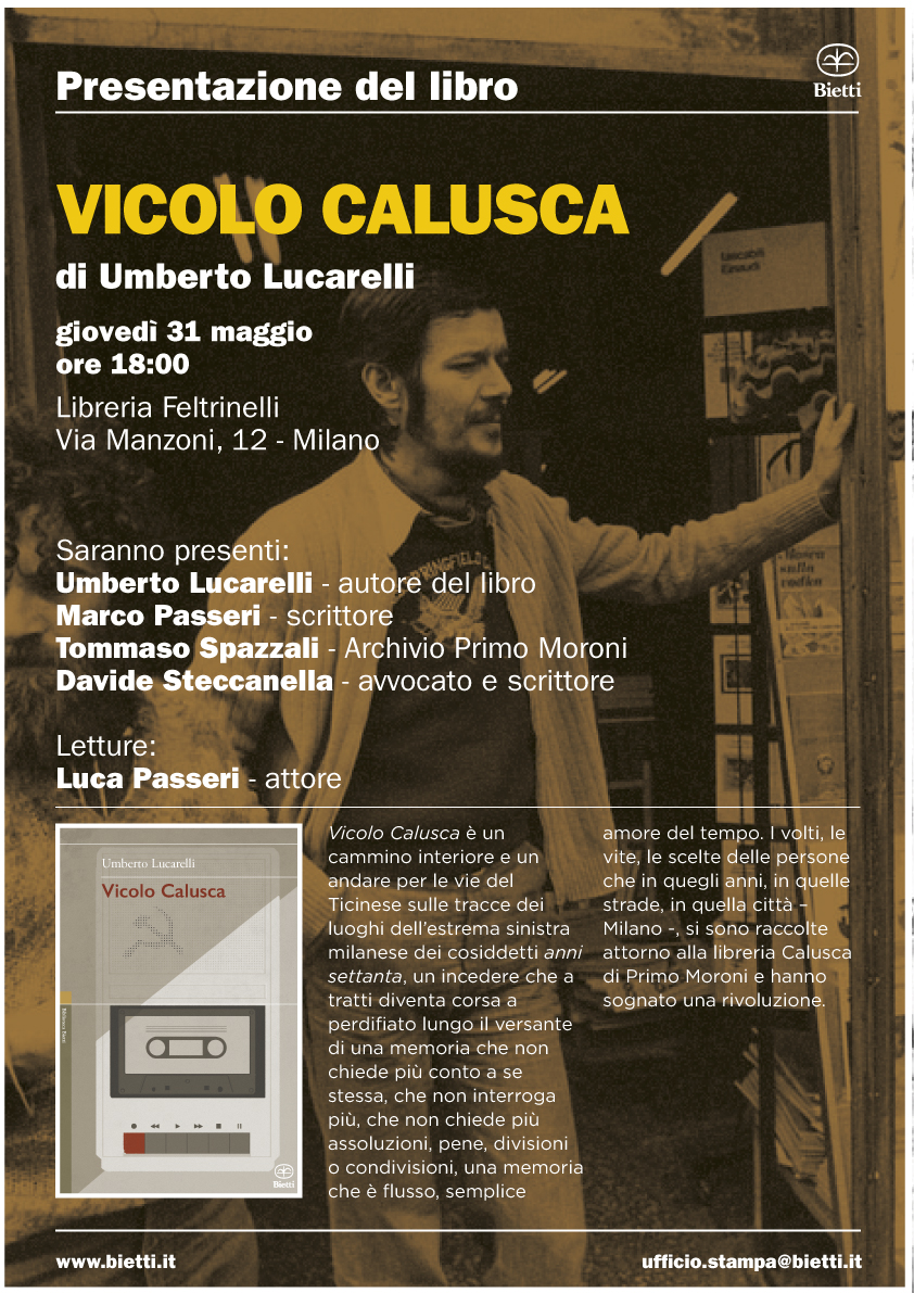 Vicolo Calusca @Feltrinelli